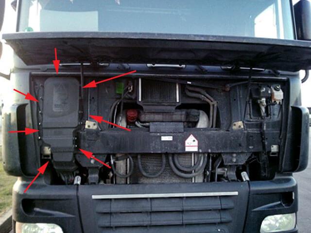 AdBlue emulator installation on DAF XF trucks