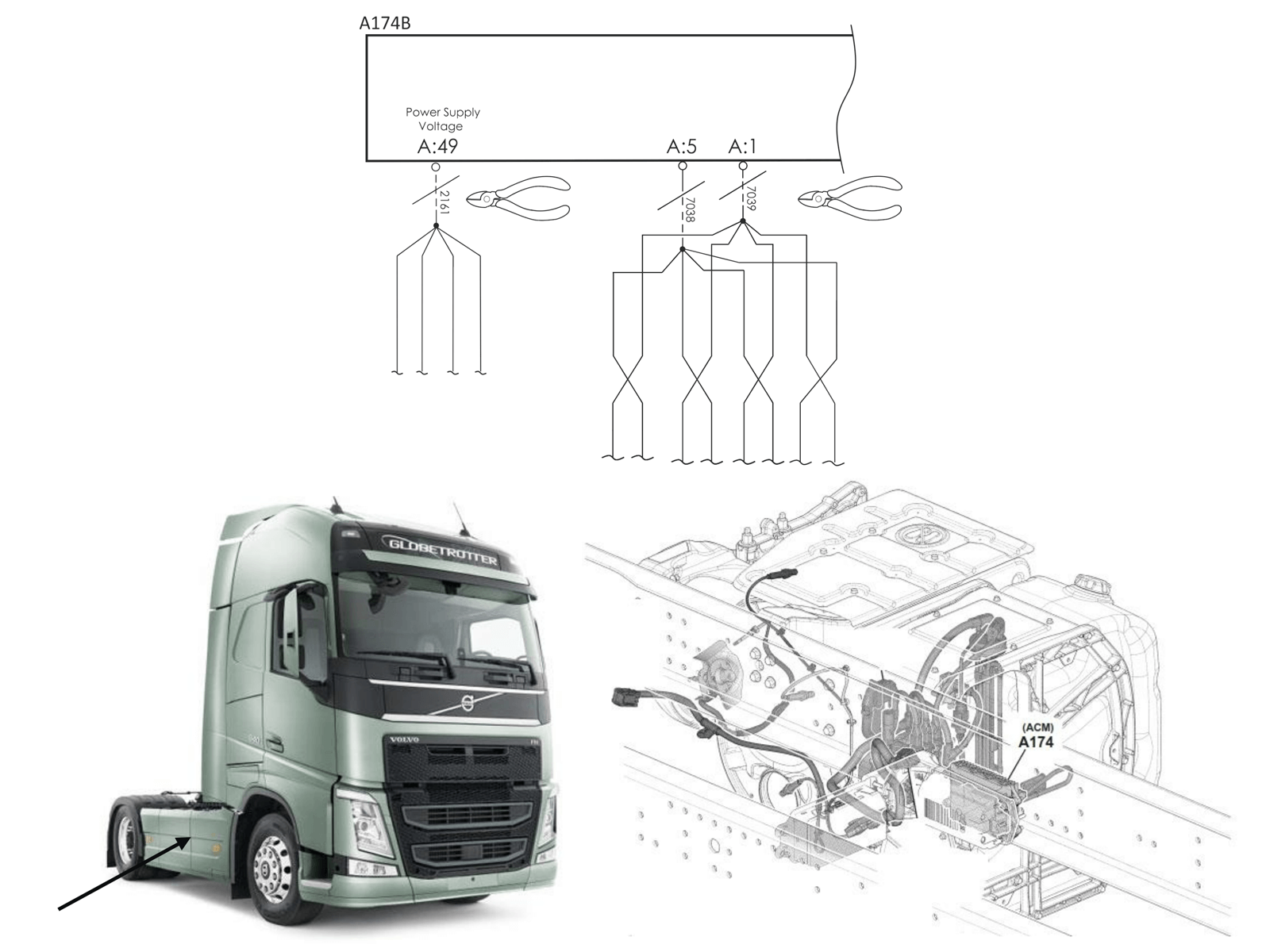 SCR Emulator Volvo-Renault EURO 6 V3 (with and without retarder) installation diagram 3