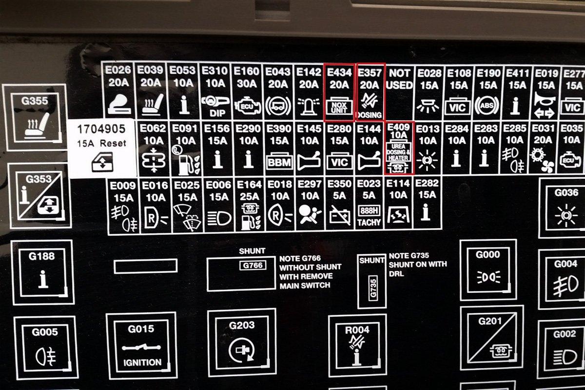 DAF LF (EURO 4, EURO 5 EEV) AdBlue emulator installation