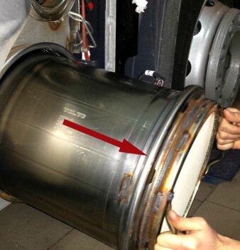 DPF filter uninstall from EURO 6 truck